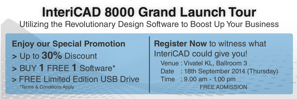 InteriCAD 8000 Grand Launch Tour KL