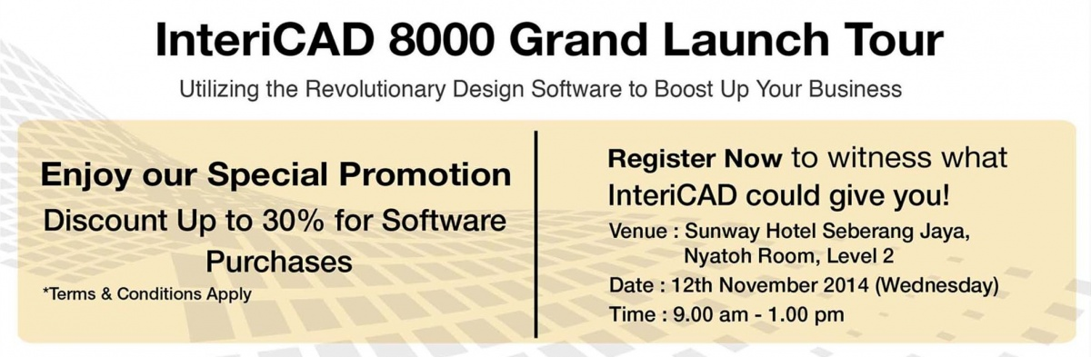 InteriCAD 8000 Grand Launch Tour